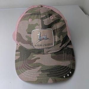 John Deere Tractor Girl Snap Back Hat